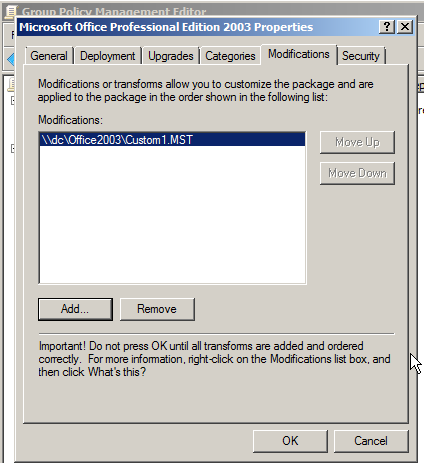 Article: Deploying MST Files Using Group Policy   ITNinja