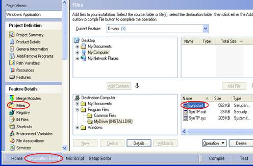 Article: Driver Installation from an MSI using Microsoft