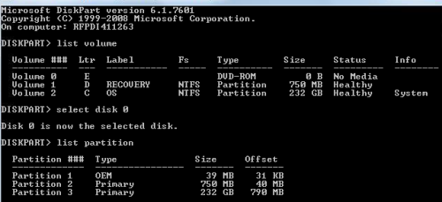 how to create oem partition