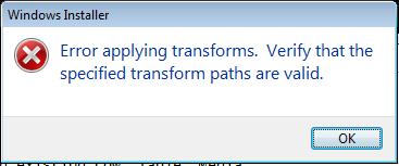 Q&A: Error Applying Transforms for MSP | ITNinja