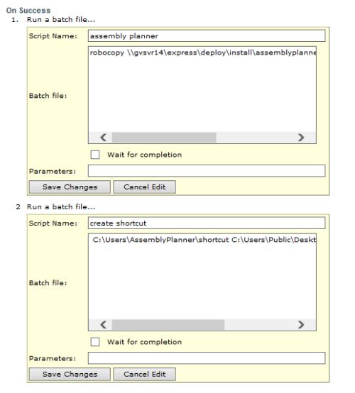 batch file create shortcut