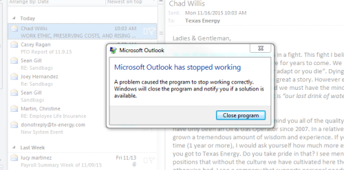 Q&A: Outlook 2010 stops working on a handful of machines after