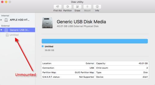 Article: External Hard Drive Unmounted or Invisible on Mac