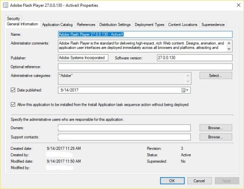 Article: Deploying Adobe Flash Player (currently 27 0 0 130