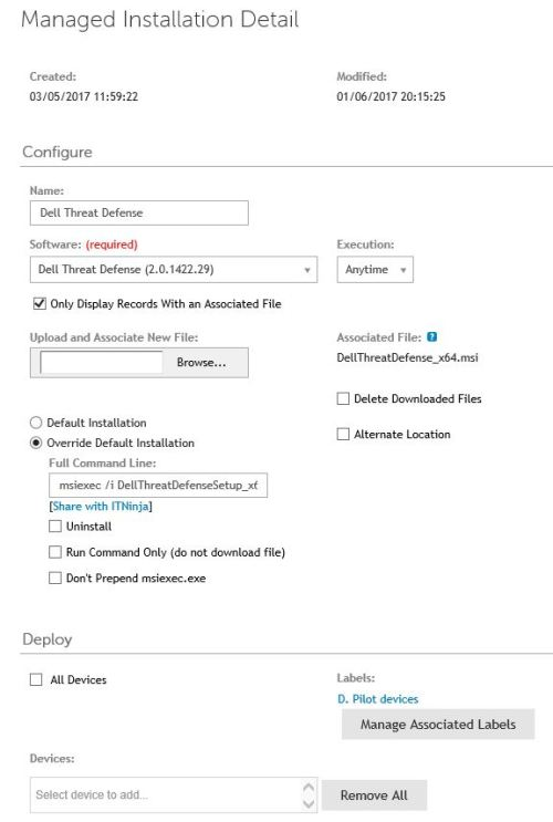 Q&A: My managed install of Dell Threat Defense by Cylance is failing