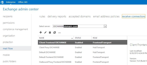 Article: Configuring Microsoft Exchange 2013 for K1000 Email