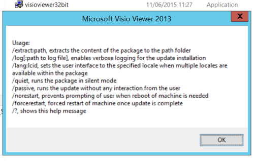 Q&A: need to convert exe 2013 Visio Viewer to msi for
