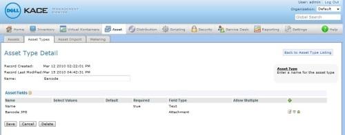 Article: KACE::Barcode Asset Management via the KACE 1000 Series