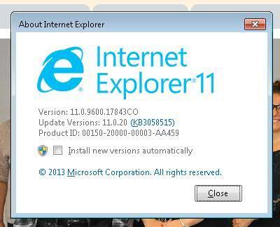 Q&A: IE 11 unable to launch 32-bit mode on windows 7-64 bit