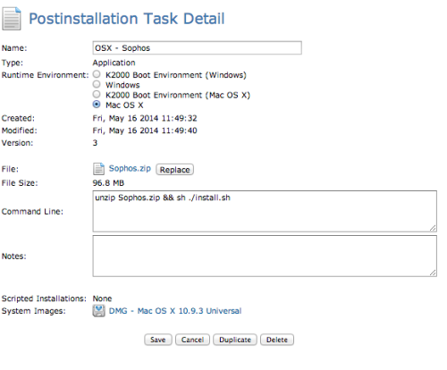 Q&A: How do I deploy the Mac version of Sophos as a K2000 post
