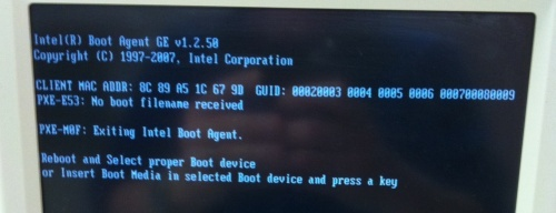 Q&A: Boot error screen, XPe PC in Printer display after boot
